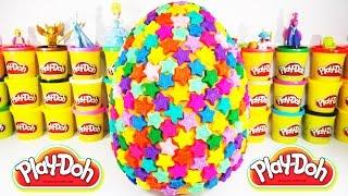 Yıldızlı Dev Sürpriz Yumurta Oyun Hamuru - Minişler Cicibiciler Karlar Ülkesi Barbie