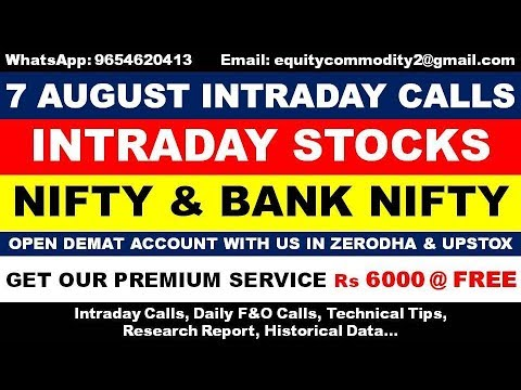 Repeat 6 AUGUST INTRADAY CALLS | NIFTY | BANK NIFTY | NIFTY