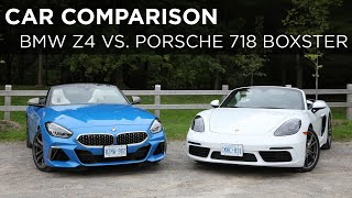 2020 BMW Z4 M40i vs 2020 Porsche 718 Boxster | Car Comparison | Driving.ca