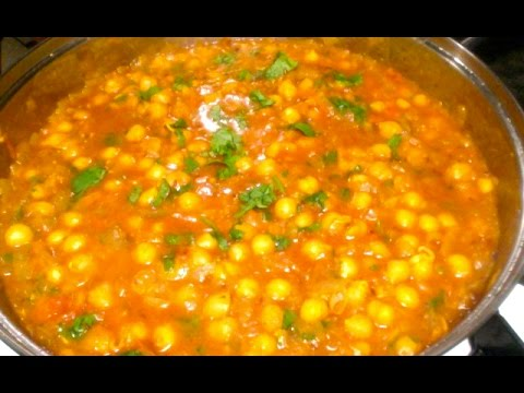 Chana Masala-Chole Masala with Sprouted Chickpeas-Vegan Reci