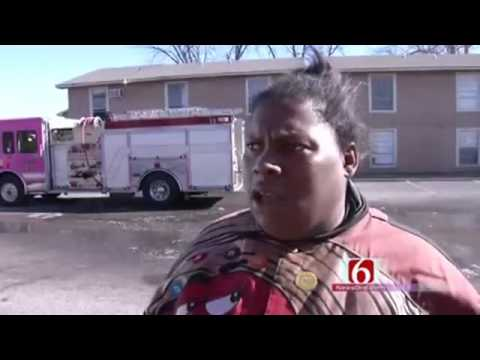 Funny Interview of Black Woman After A Fire