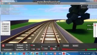 Terminal Railways Journey em ATW 158 em torno do mapa! Roblox