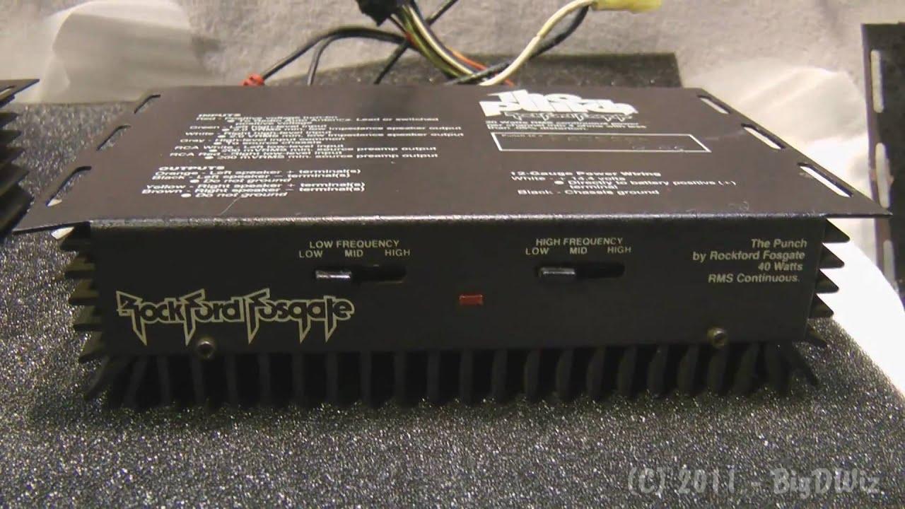 Vintage Rockford Fosgate Punch 40 Slider Amp Demo