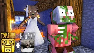 Monster School : TEMPLE RUN GAME & GRANNY HORROR - Minecraft Animation