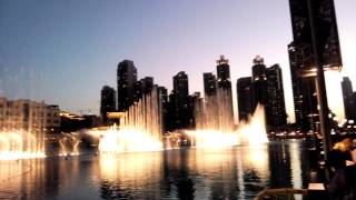 Burj Khalifa Dancing Fountain music Dubai