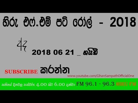 Hiru FM : Pati Roll — 2018 06 21 - Guide - ගයිඩ්