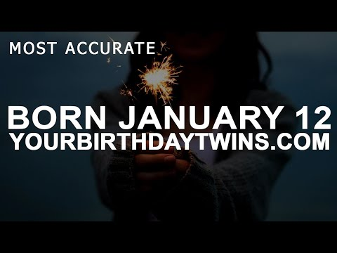 Born on January 12 | Birthday | #aboutyourbirthday | Sample