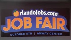 Orlando's Largest Job Fair at the AMWAY!  120 Employers 6,500 Jobs !  October 5, 2018