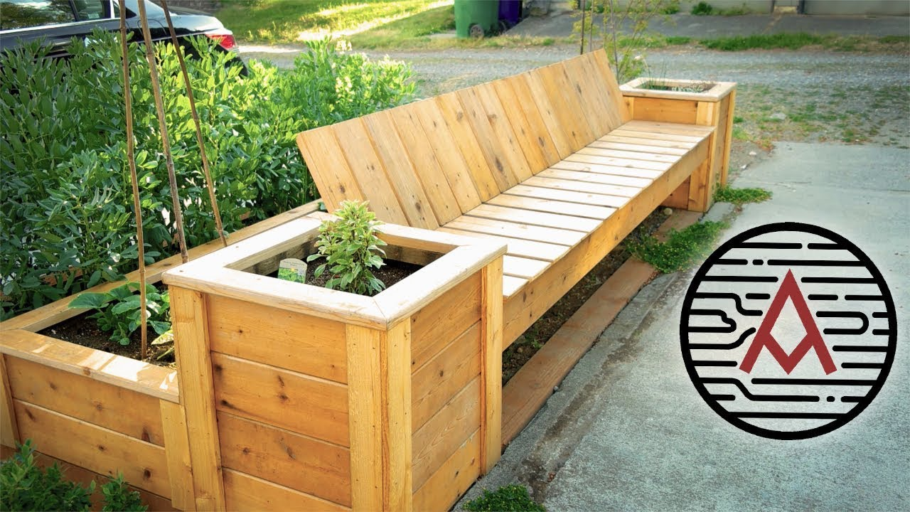 Raised Bed Bench How To Youtube
