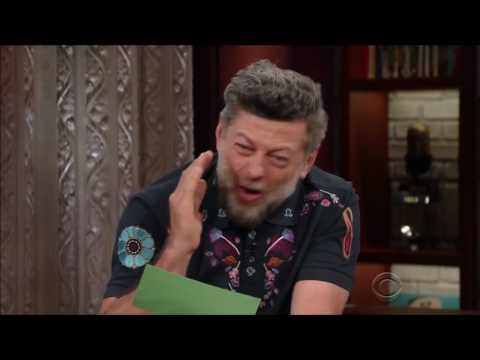 Andy Serkis as Gollum or Sméagol reading Trumps tweet's