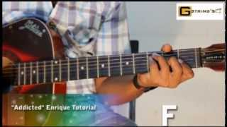 """ Addicted ""  I  Enrique Iglesias  I  Guitar Tutorial"