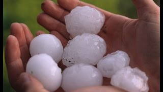 Brisbane hail storm ( flood on street, wind speed over 140 kmh )