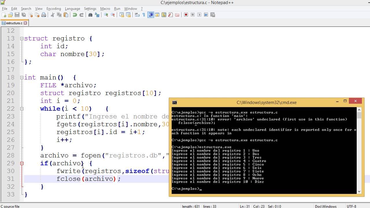 Guardar Estructura De Datos En Archivo Codigoenc Com