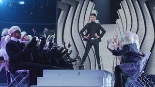 Rylan Clark sings Groove Is In The Heart/Gangnam Style medley - Live Week 2 - The X Factor UK 2012