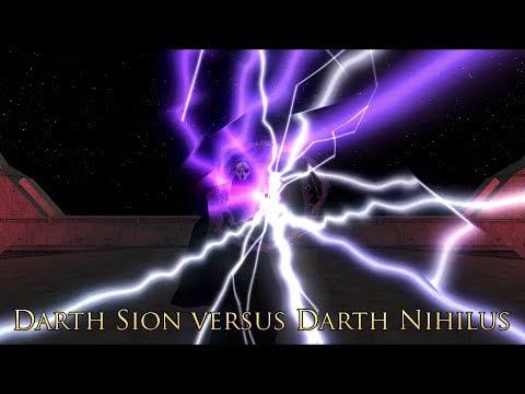Darth Sion Vs. Darth Nihilus (All 5 Versions Of The Scene)