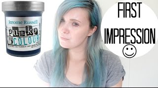 """Jerome Russell Semi-Permanent Punky Colour Hair Cream """"Turquoise""""   First Impression+Review"""