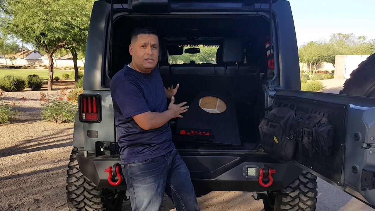 Brp Stealth Subwoofer Box For The Jeep Wrangler Jku Youtube Jk