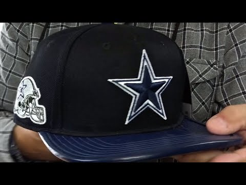 01a16c8b7ebed Cowboys  SIDE HELMET STRAPBACK  Black-Navy Hat by Pro Standard - YouTube