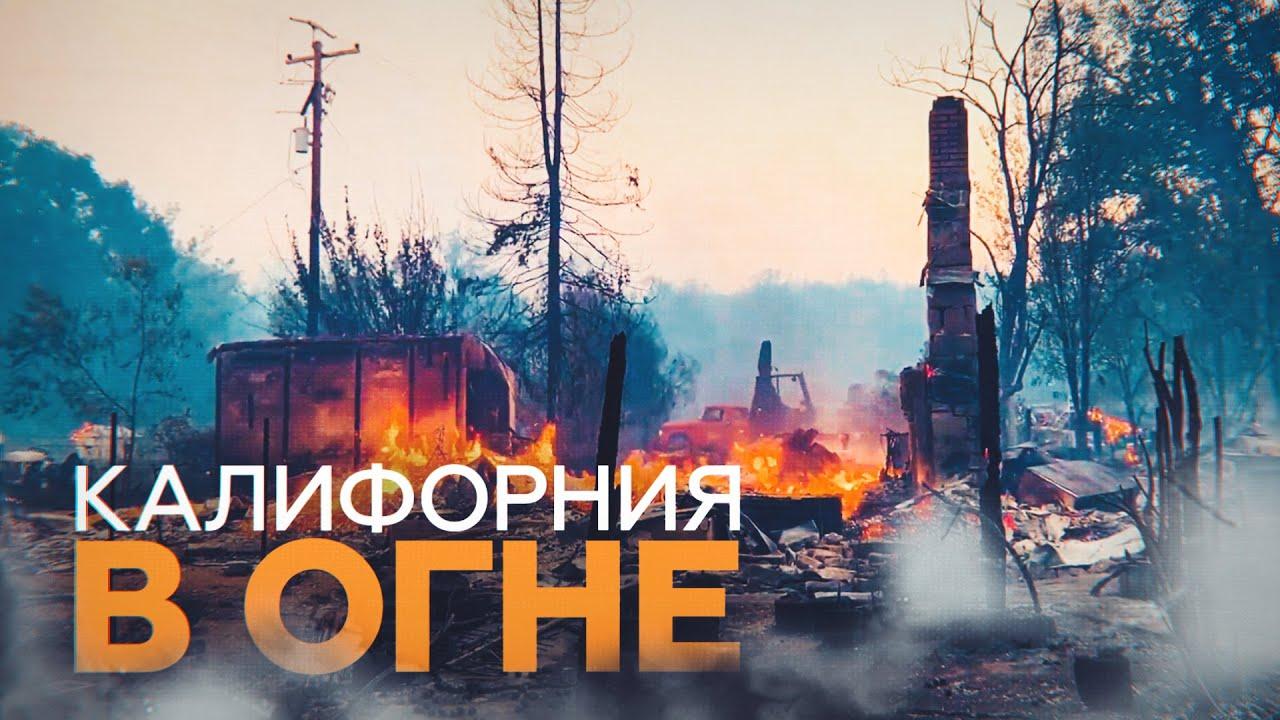 В Калифорнии как минимум три человека погибли в результате лесных пожаров, выжжено 1,5 млн га земли