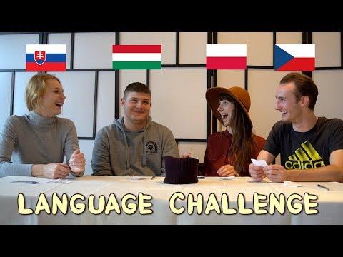 LANGUAGE CHALLENGE Polish Hungarian Czech Slovak - Globe in
