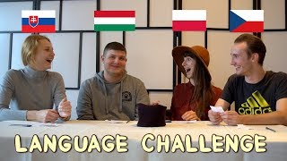 LANGUAGE CHALLENGE Polish Hungarian Czech Slovak - Globe in the Hat #2