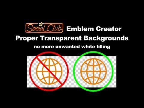Transparent Backgrounds - SocialClub Emblem Creator