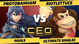 CEO 2019 SSBU - ProtoBanHam (Lucina, Inkling) Vs. RiotLettuce (DK, Link) Ultimate Tournament Pools