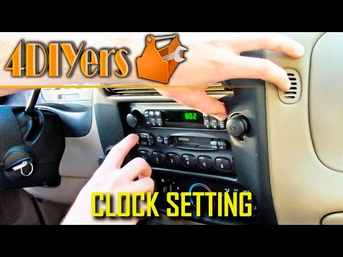 DIY: Ford Ranger Clock Setting