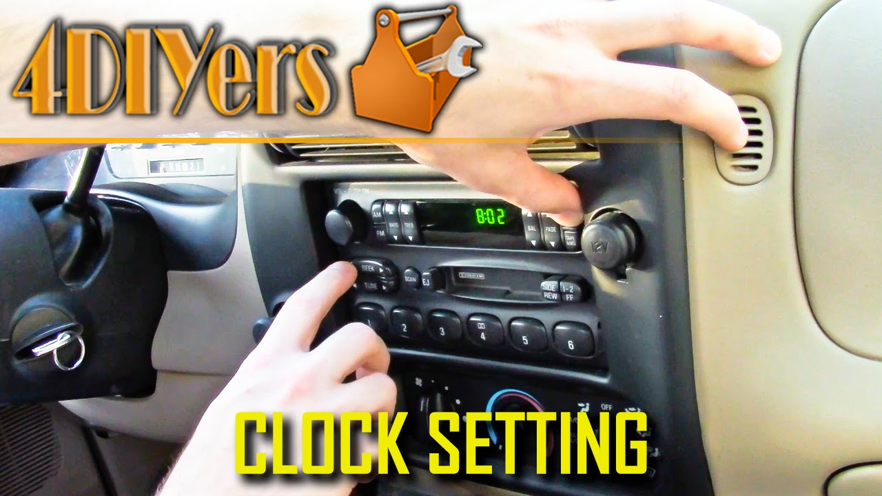 diy ford ranger clock setting [ 1280 x 720 Pixel ]
