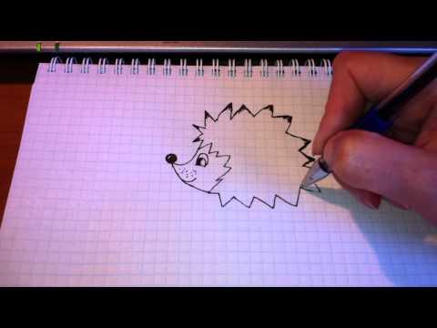 Как нарисовать ежика картинка