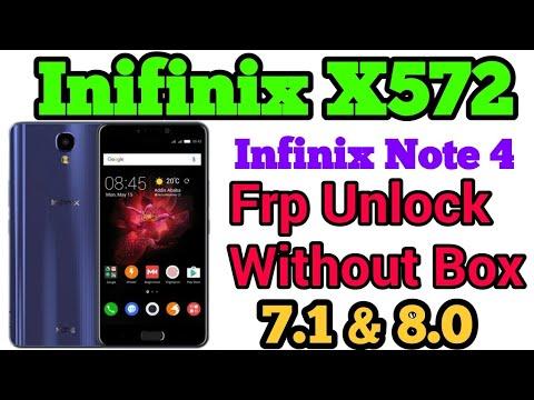 Infinix X572 Frp Unlock||Infinix Note 4 Frp Unlock Google bypass||Infinix  frp unlock without box