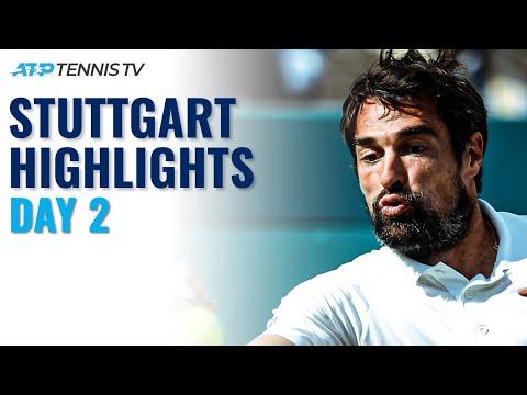 Chardy Battles Hanfmann; Gojowczyk & Koepfer In Action At Home   Stuttgart 2021 Day 2 Highlights