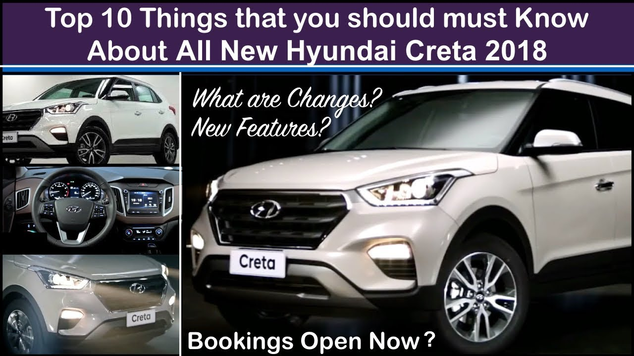 Creta 2018 Top 10 Things To Know - Features,Interior and Price | Old ...