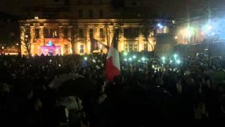 Marseillaise at Trafalgar Square Vigil - 14/11/2015