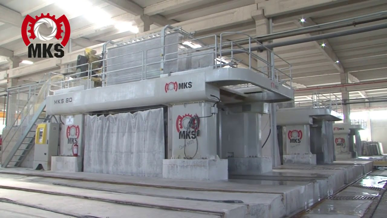 mks chassis multilames machine pour couper marbre 80 lames gang saw telar para corte de marmol