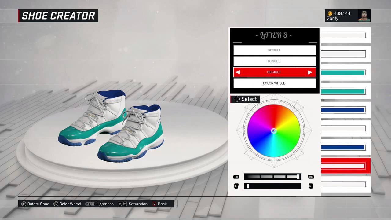 wholesale dealer cf1db dfe0c NBA 2K17 Shoe Creator - Air Jordan 11 PE