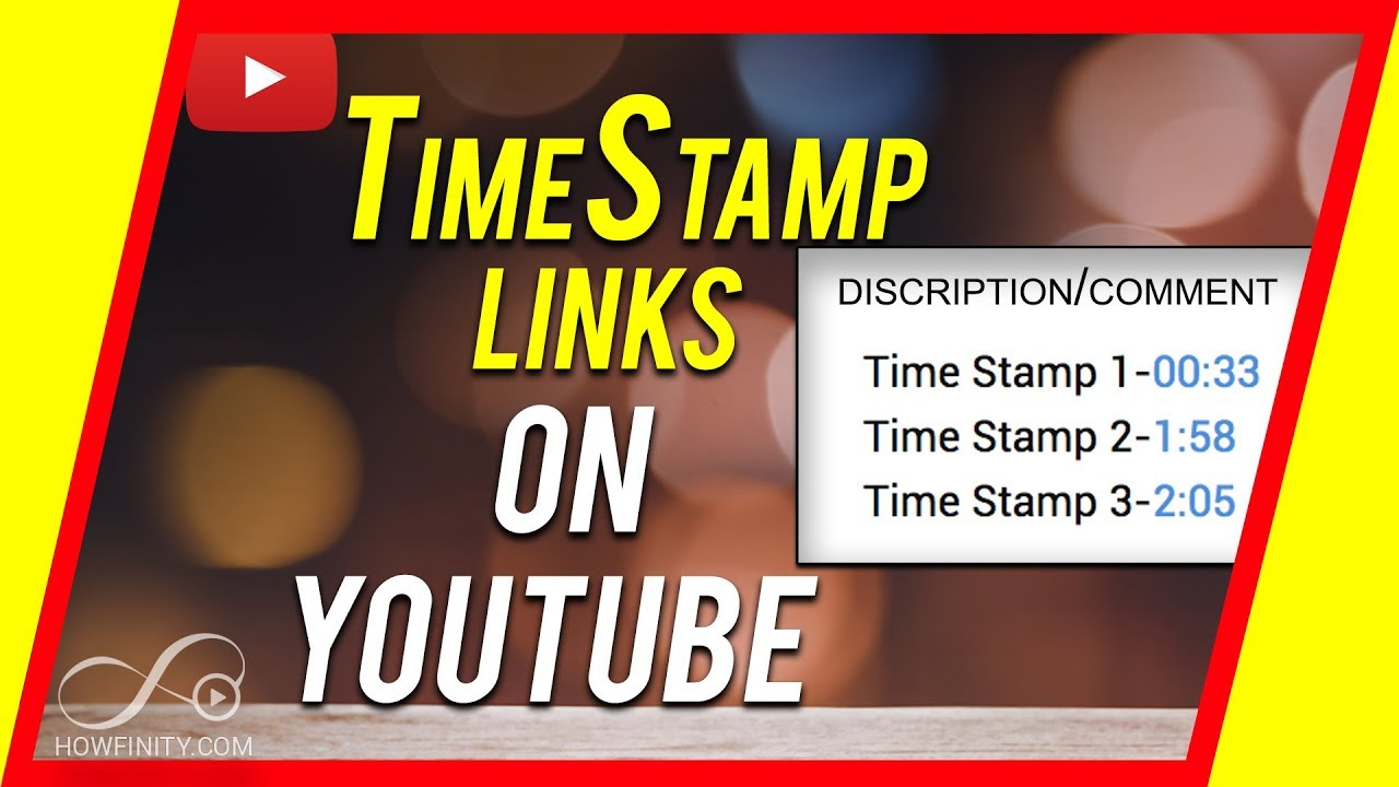 How To Add A TimeStamp Link In YouTube Description - YouTube