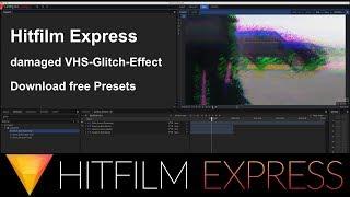 Hitfilm Express Tutorial - RGB Glitch Displacement - free presets