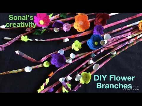 DIY Branches With Flowers | Sonal's creativity