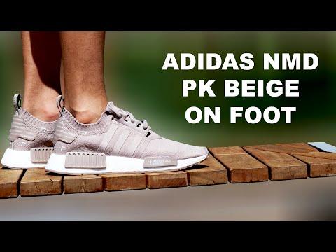 f22b96a3f Youtube Video · Adidas NMD Primeknit Beige on foot