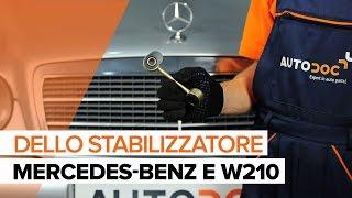 Come sostituire il collegamento dello stabilizzatore anteriore su MERCEDES-BENZ E W210 [TUTORIAL]