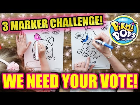 3 Marker Challenge - PIKMI POPS Edition! (WE NEED YOUR HELP!!)