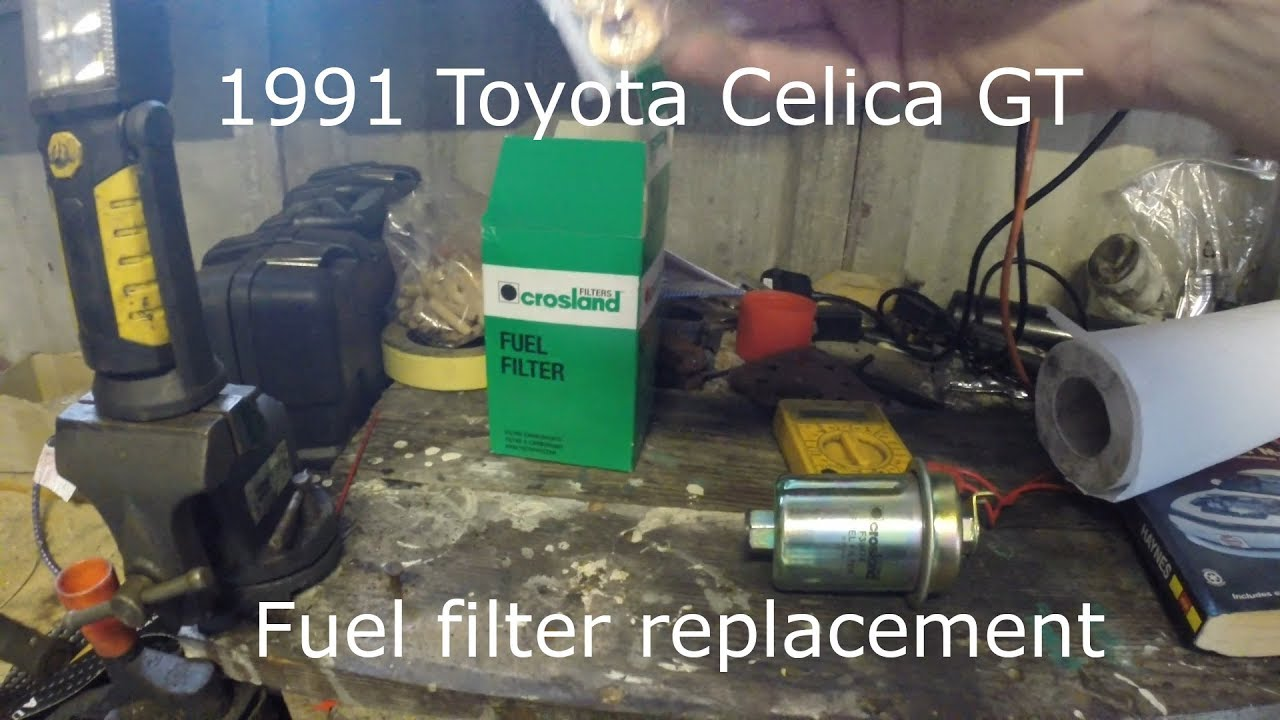 toyota celica part 13 - fuel filter replacement - youtube  youtube