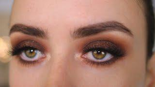 ДЫМЧАТЫЙ ОСЕННИЙ МАКИЯЖ ВЫРАЗИТЕЛЬНЫЕ ГЛАЗА Пошаговый урок макияжа для новичков