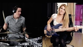 Download Video MAGIC! - Rude - Cover (Ft. Anna Sentina) Drum Cover & Bass Cover MP3 3GP MP4