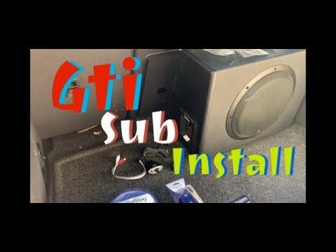 GOLF MK7.5 SUBWOOFER Install