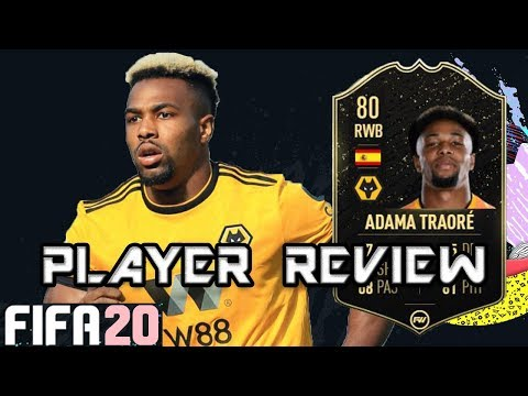 Fifa 20 Inform Adama Traore Player Review 80 Totw Youtube