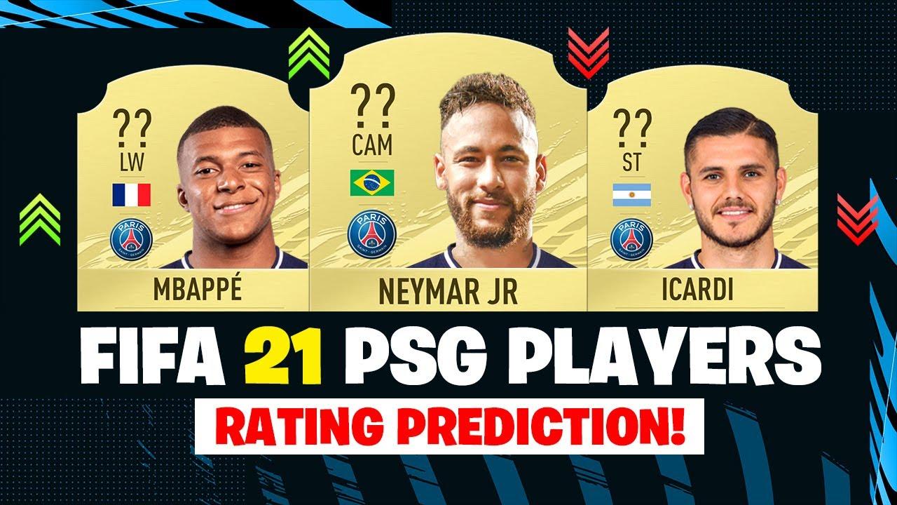 fifa 21 psg players rating ft neymar mbappe icardi etc