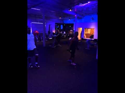 Cuba Swift working out at Erin's Fitness Club