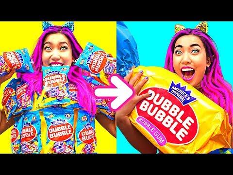WOW! Giant Dubble Bubble Gum DIY!!! So Funny! (CC Available)